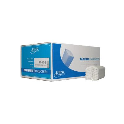 Euro Products C-vouw, 2 laags Vouwhanddoekjes Euro tissue wit