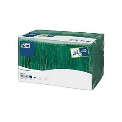 Tork lunchservet 33x33cm 1-laags 1/4-vouw mountain pine green 9x500