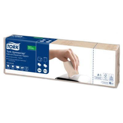 Tork Xpressnap® dispenserservet 21,6x33cm 1-laags 1/4-vouw Natural N4