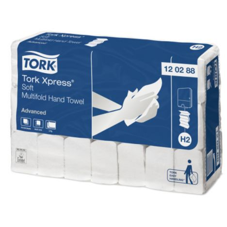 Tork Xpress® Zachte Multifold Handdoek 2-laags XL Wit H2 Advanced