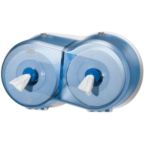 Tork SmartOne® Mini Twin Toiletpapier Dispenser Kunststof Blauw T9