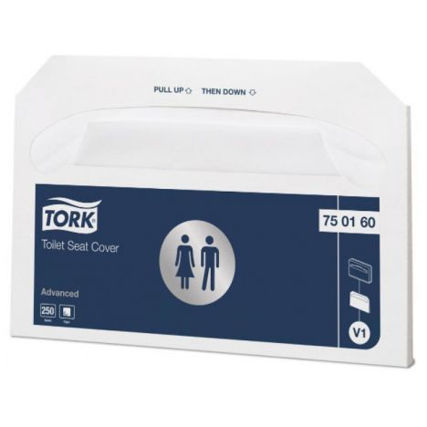 20x 250 Tork Toiletbril Afdekhoes Wit V1 Advanced