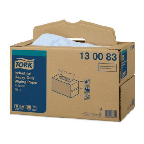 Tork Industrial Heavy-Duty Poetspapier Handy Box 3-laags Blauw W7